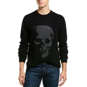 NWT - Autumn Cashmere Mens Crewneck Skull Sweater
